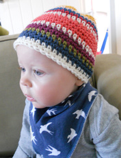 baby beanies, vintage hats for babies, funky baby hats, bohemian pearl, erin singleton